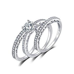 ff8378d11098 Jewelrypalace 925 Plata Esterlina 1,5 Ct Cz Anillo De Compro