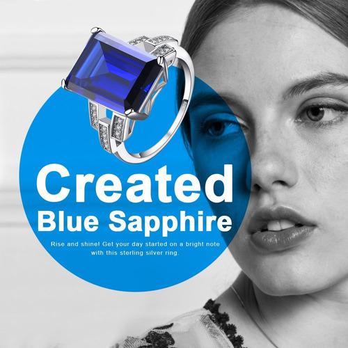 jewelrypalace de lujo de esmeralda corte 9.6ct creado azul a