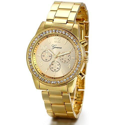 b9aeb92825ee Jewelrywe Reloj De Vestir De Lujo Para Hombre