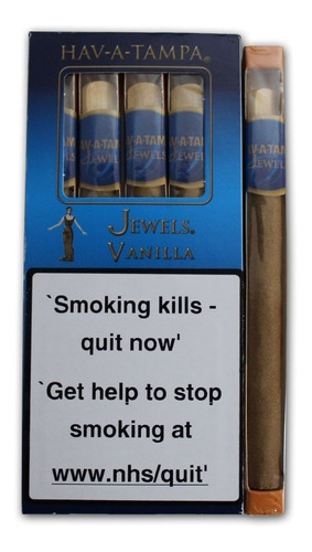 jewels vainilla caja x5 tampa cigarros tabaco habano puro