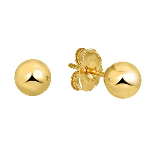 a3400e7b9805 Jewelstop 14k Real Yellow Gold Stud Pendientes De Bola Oro F -   226.990 en  Mercado Libre