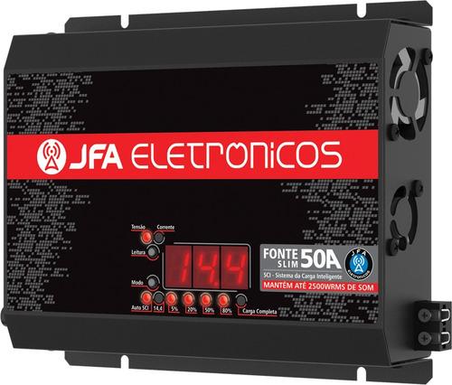 jfa 50 a - fonte carregador bateria slim + taramps stetsom