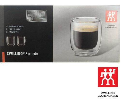 jg 2 copos cafe sorrento parede dupla espresso 80ml zwilling