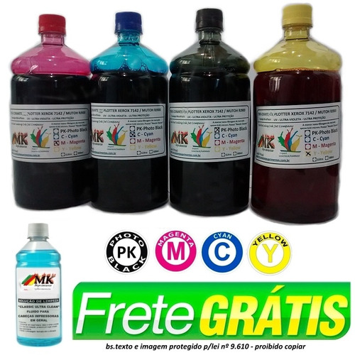 jg 4ltrs tinta corante plotter xerox 7142 / mutoh rj900