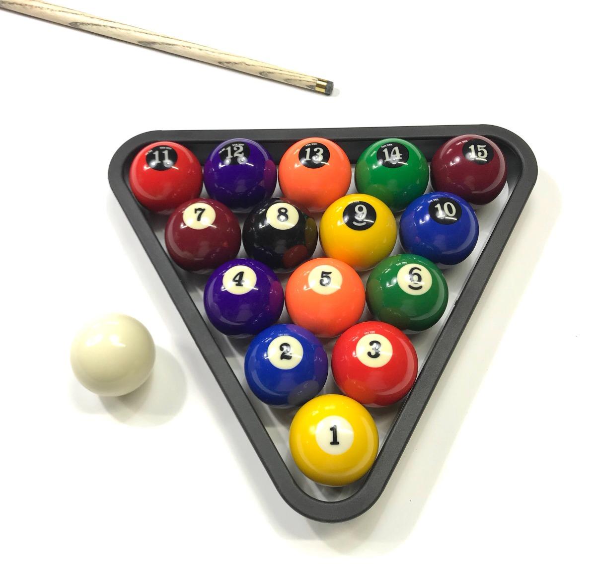 Jg Bolas De Bilhar   Sinuca   Snooker 54mm + Triângulo - R  119 0049a89e24b1e