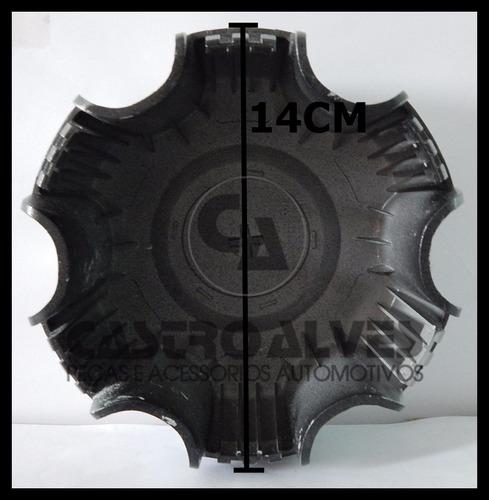 jg calota centro roda s10 ltz trailblazer preta aro 18- 4 pç