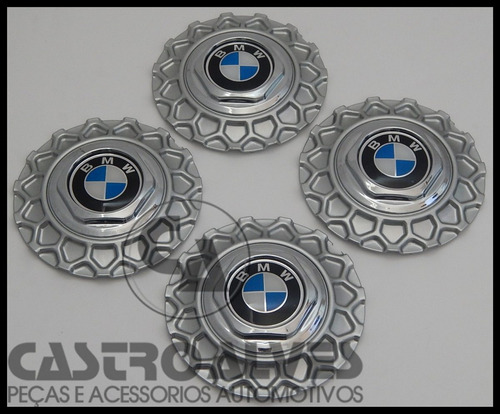 jg calota miolo roda bbs brw900 aro 18 bmw prata - 4 pçs