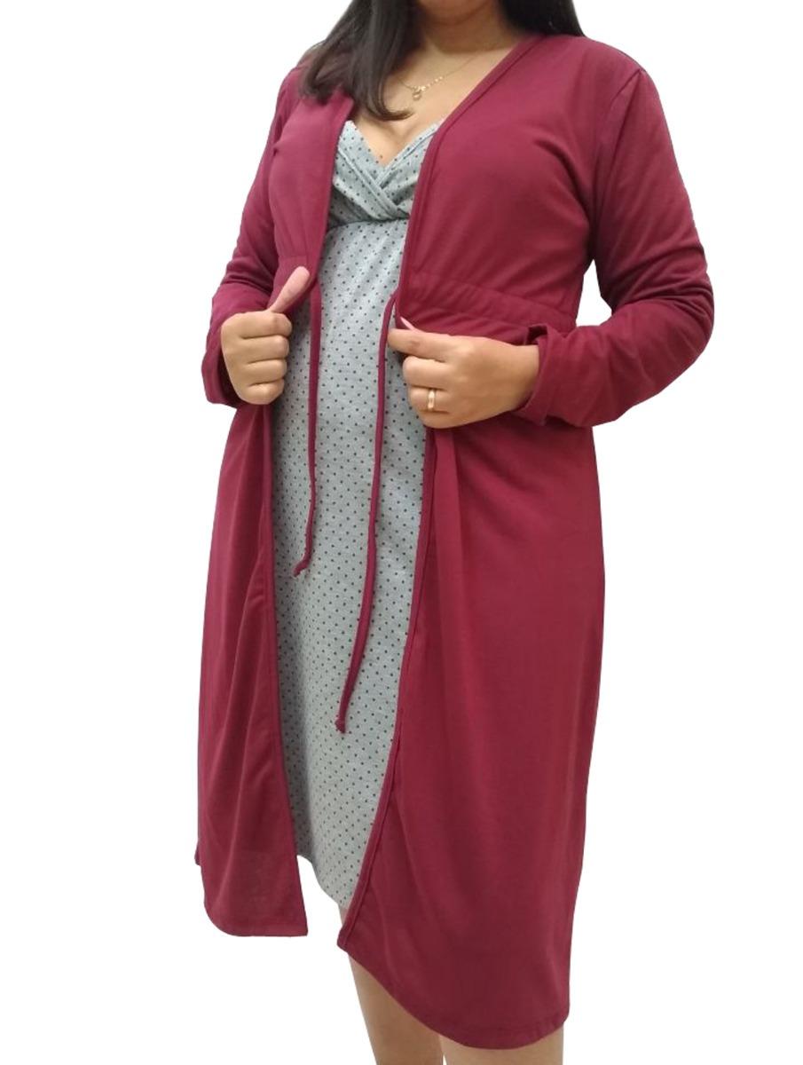 a78e1103d jg camisola com robe manga longa gestante amamentação 2626. Carregando zoom.