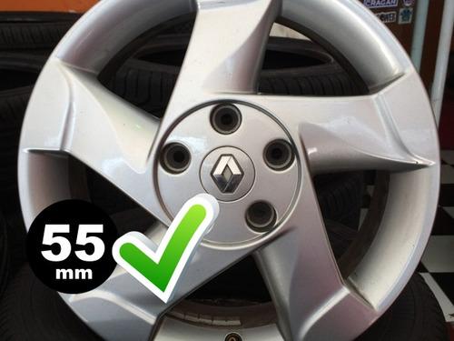 jg.4 calotas centro roda renault duster clio sandero prata
