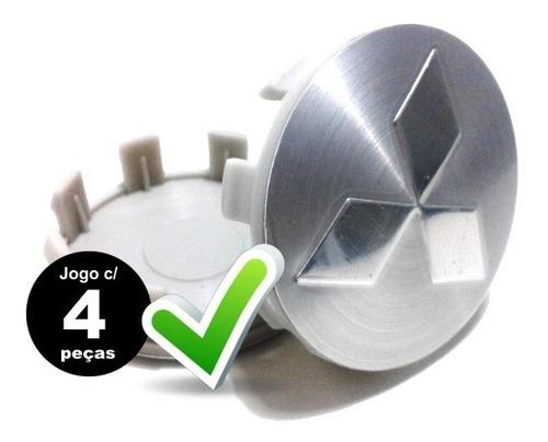 jg.4 calotas miolo tampa p/ roda mitsubishi l200 | tr4 alum.