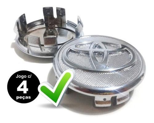 jg.4 calotas miolo tampa p/ roda toyota corolla 55mm 08 | 15