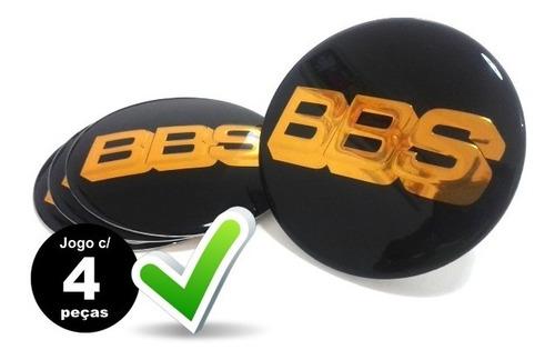 jg.4 pçs emblema adesivo para roda bbs 51mm preto c/ dourado
