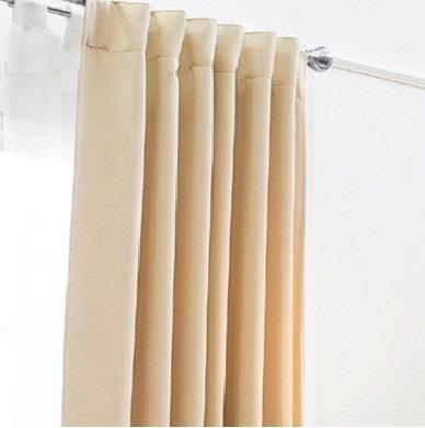jgo 2 cortinas blackout catania beige vianney envio gratis - Cortinas Beige
