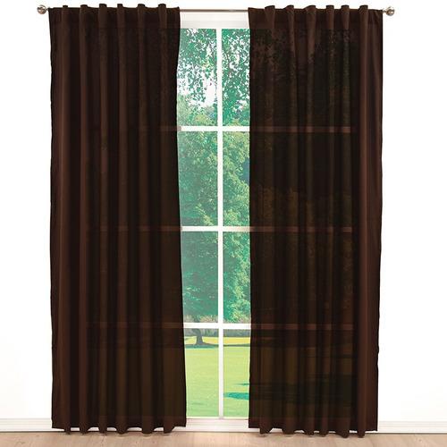 jgo. 2 cortinas viasoft cocoa chocolate vianney envio gratis