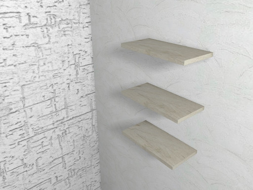 jgo 3 repisas flotantes minimalistas modernas melamina 50x15