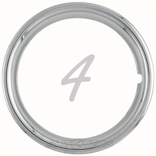 jgo. 4 aros metálicos cromados rines 14 trim rings arillos
