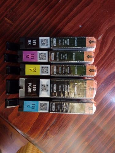 jgo 5 pz cartuchos canon cli-150 151 originales envío gratis