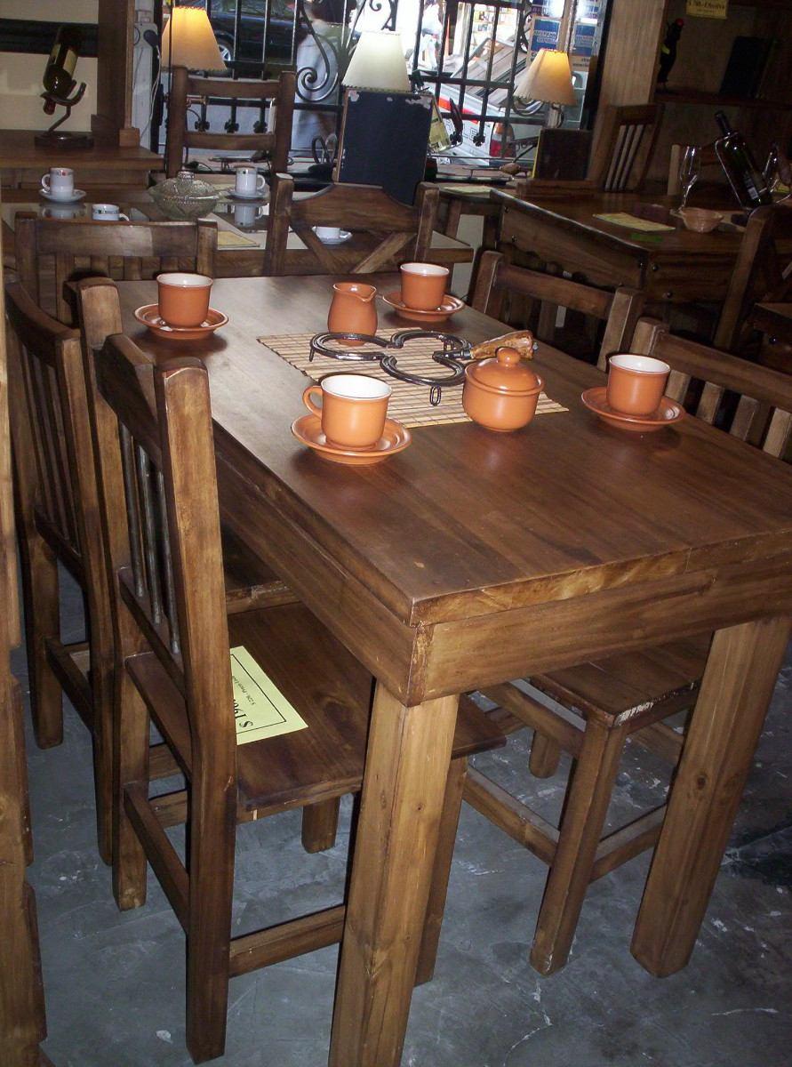 Sillas rusticas de madera para comedor sillas para for Mesas rusticas comedor