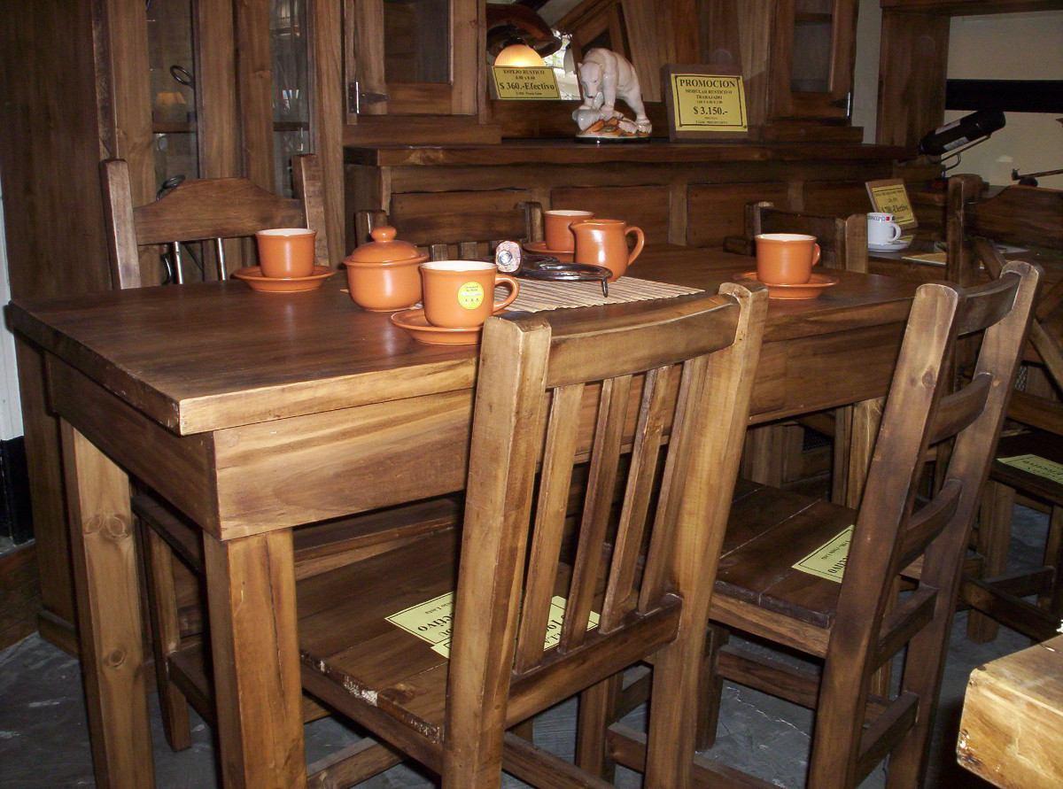 Cocinas comedor rusticas dise os arquitect nicos - Mesas de cocina rusticas ...