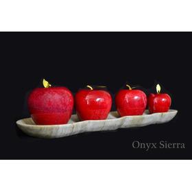 Jgo. De 4 Manzanas De Onix Con Charola. Envio Gratis.