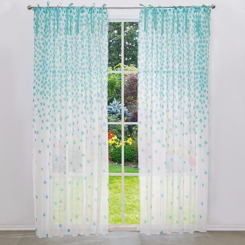 jgo de cortinas translucidas estrellas vianney envio