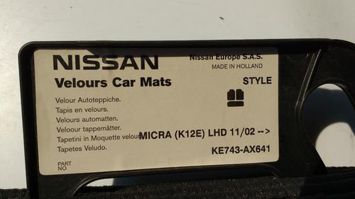 jgo de tapetes para micra # orig nissan  ke743ax641
