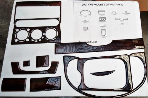 jgo. embellecedor tablero  chevy 11 pzas 1309 aluminio