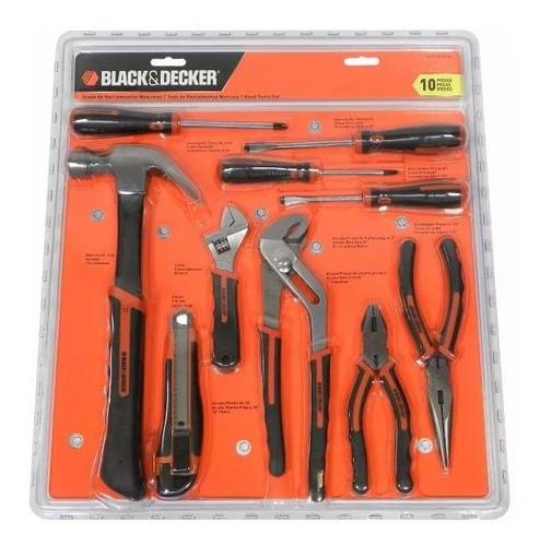 jgo. herramientas 10 pzas black + decker