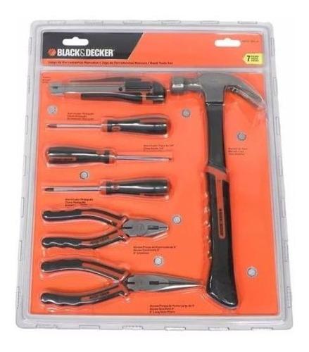 jgo. herramientas 7 pzas black + decker