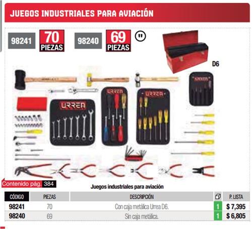 jgo industrial para aviacion 69pzs urrea herramientas 98240