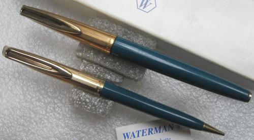 jgo. lapicera pluma de oro y portamina watermans usa
