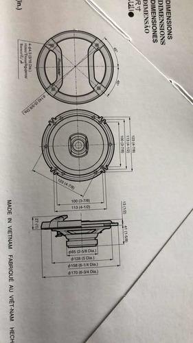 jgo. pioneer tsf1634r 16cm 200w 2 vías en caja, no sueltos !