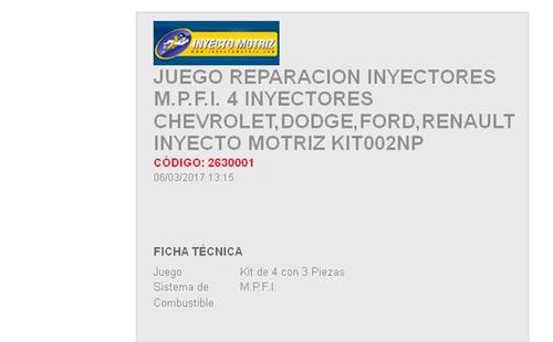 jgo reparacion inyector toyota tacoma  4,6 cil  95-04