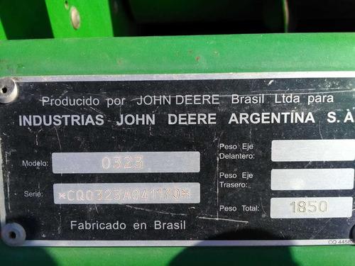 jhon deree 1175 año 2006-plat, 23 pies 6500 hs original