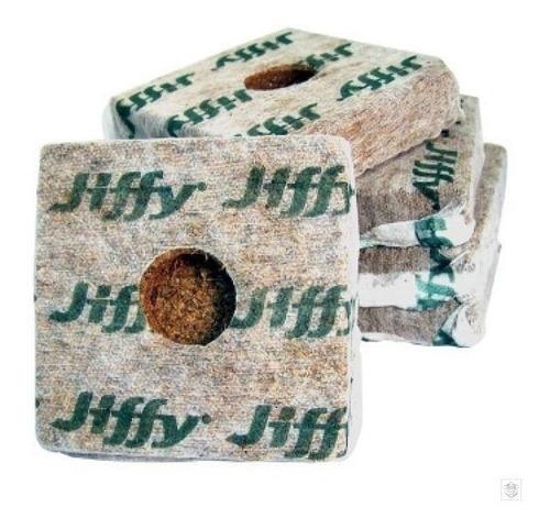 jiffy 8x8 growblock fibra de coco (436cc) x5 unidades