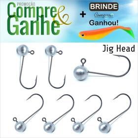 Jig Head Para Pesca Kit Com 15 Peças Anzol 1/0-2/0-3/0 E 4/0