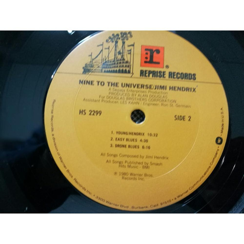 jimi hendrix nine to the universe vinilo usa