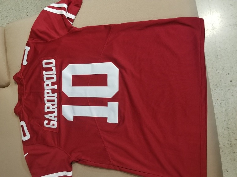 buy popular b0bff 3d7b4 Jimmy Garoppolo 2018 #10 San Francisco 49ers Jersey