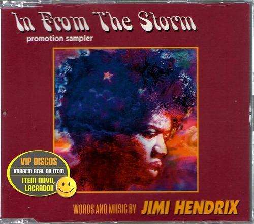 jimmy hendrix cd single in from the storms 4 faixas - raro