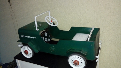 jipe pedal car bandeirante antigo