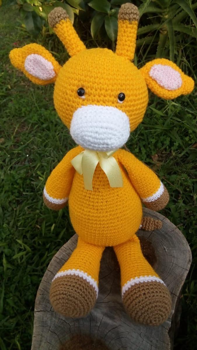 Jirafa tejida al crochet. Largo: 55 cm.... - Muñecos en crochet ...   1200x675
