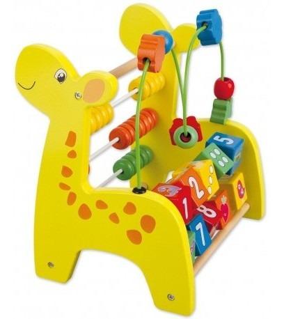 jirafa ábaco juegos didácticos infantiles madera montessori