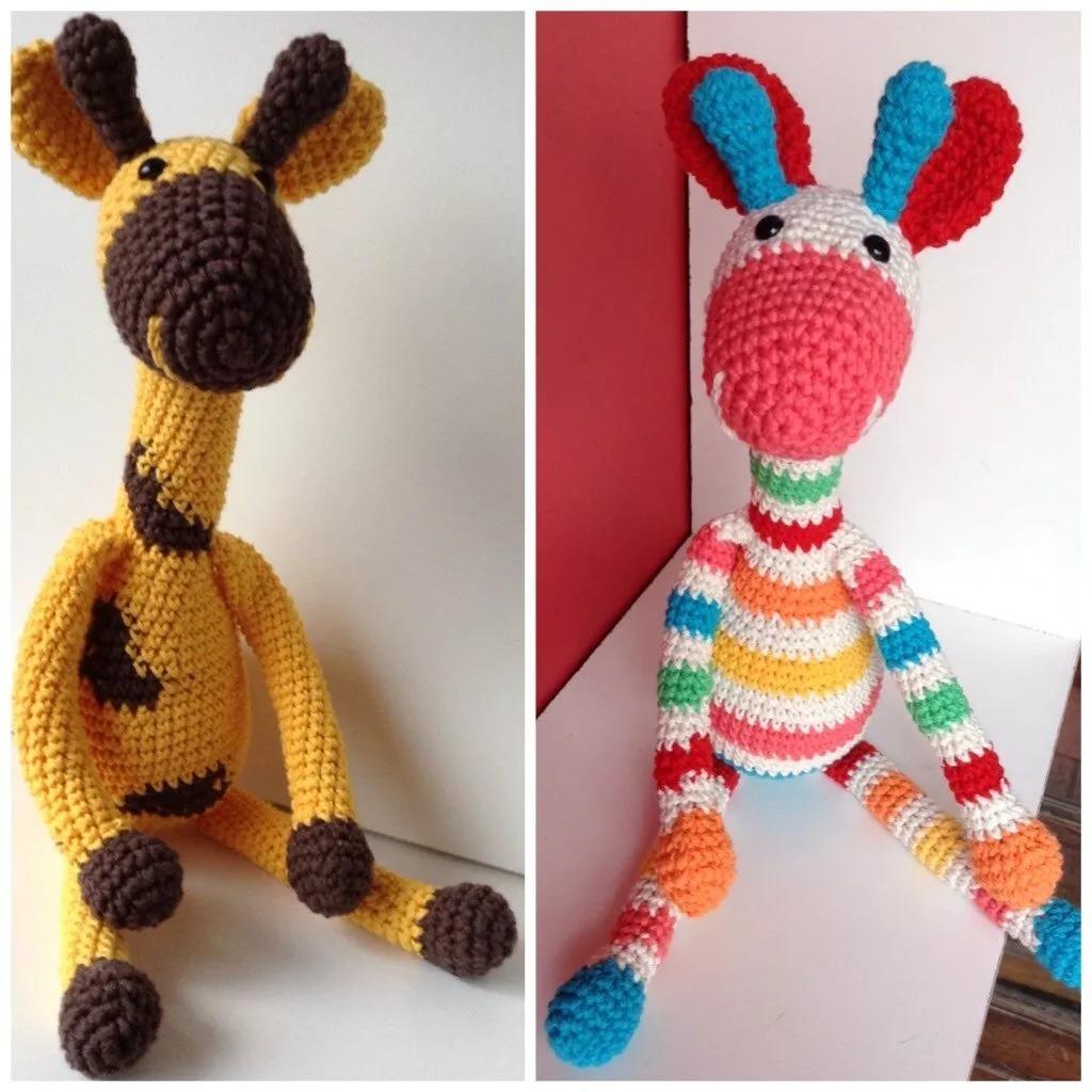 Jirafas Amigurumis Muñecos Al Crochet O Patrón - Arte y Artesanías ...