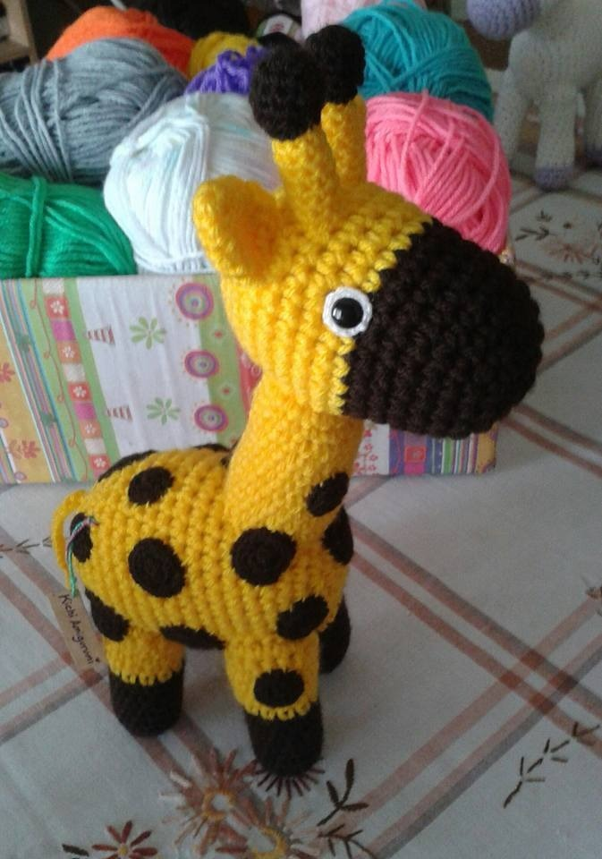 Amigurumi Pattern - Giraffe PDF Crochet Pattern - Tutorial Digital ... | 960x673