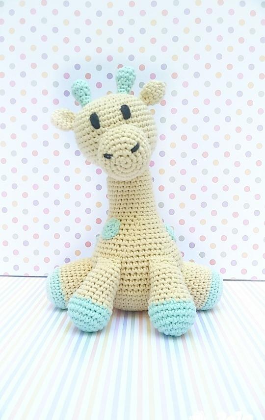Jirafa Bebé Amigurumi-al Crochet- Pequeñasonrisas - $ 480,00 en Mercado  Libre | 857x540