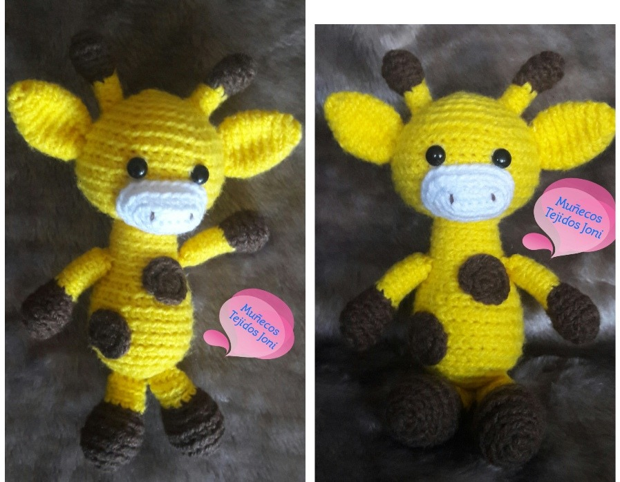 Jirafa Tejida A Mano Al Crochet - Amigurumi - $ 550,00 en Mercado ...   698x897