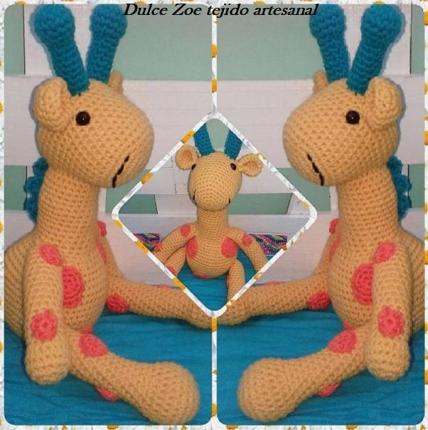 Jirafa Amigurumi Tejida Crochet - $ 950,00 en Mercado Libre   604x602