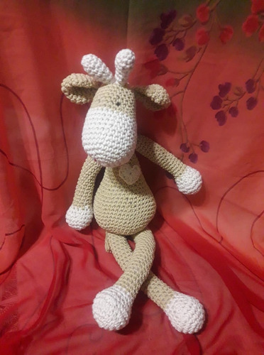 jirafa tejido crochet bebes varon nena  el cristal encantado