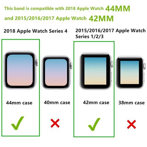 jisoncase 42mm manzana reloj banda genuino piel de cordero c