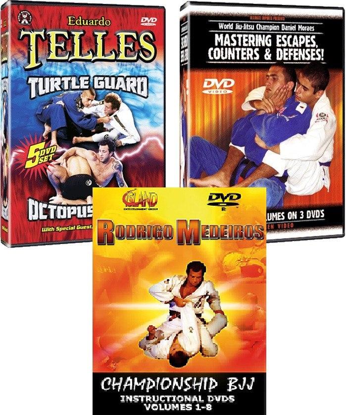 Jiu Jitsu Brasileño Bjj Judo Mma Dvd Telles Moraes Medeiros